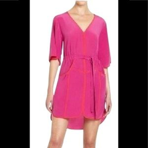 "BCBGMaxAzria fuchsia ""Mandy"" dress."